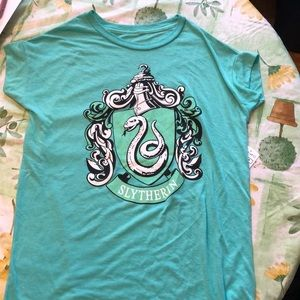 Ladies Harry Potter slytherin T-shirt size small